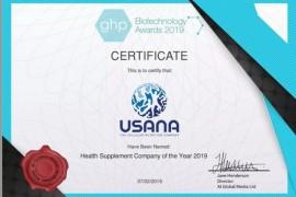 """USANA获""""2019年度健康补充品企业""""称号"""