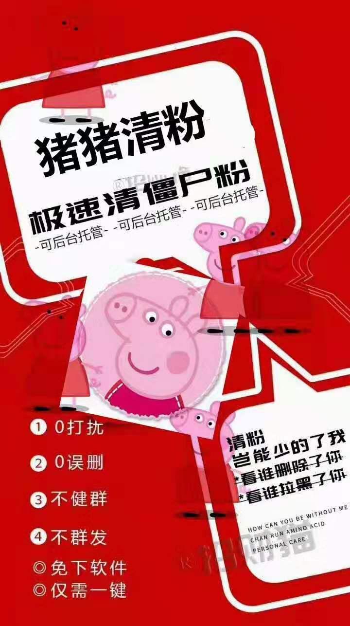 猪猪清理僵尸粉周卡官方微信操作/云端登录使用检测僵尸粉不打扰